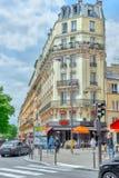 PARYŻ FRANCJA, LIPIEC, - 04, 2016: Miasto widoki Paryż, ulica, bui Obraz Royalty Free