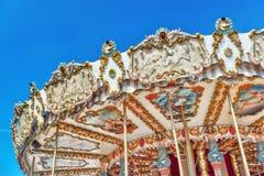 PARYŻ, FRANCJA LIPIEC 09, 2016: Rozrywki Carousel dla yo Fotografia Stock