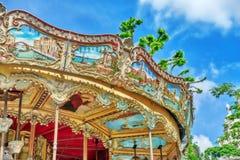 PARYŻ, FRANCJA LIPIEC 04, 2016: Rozrywki Carousel dla yo Zdjęcie Royalty Free