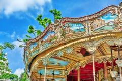 PARYŻ, FRANCJA LIPIEC 04, 2016: Rozrywki Carousel dla yo Fotografia Stock