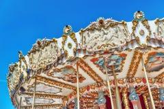 PARYŻ, FRANCJA LIPIEC 09, 2016: Rozrywki Carousel dla yo Obraz Stock