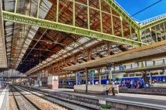PARYŻ FRANCJA, LIPIEC, - 09, 2016: Wysoki prędkość pociąg przy północą R Obraz Stock