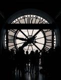 Paryż, Francja, Marzec 28 2017: inside widok zegar Orsay muzeum w Paryż Fotografia Stock
