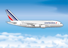 PARYŻ, FRANCJA, rok 2017, Air France linii lotniczej pasażera linia Fotografia Stock