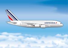 PARYŻ, FRANCJA, rok 2017, Air France linii lotniczej pasażera linia ilustracji
