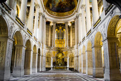 PARYŻ FRANCJA, SIERPIEŃ, - 22, 2012: Główne wejście Versailles kumpel Obraz Royalty Free
