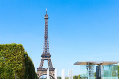 PARYŻ FRANCJA, Sierpień, - 15, 2016: Wieża Eifla, przezwisko losu angeles paniusia Zdjęcie Royalty Free