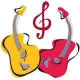 pary gitara Ilustracji