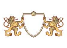 pary grzebienia lwy royalty ilustracja