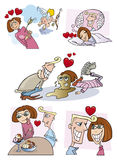 pary historia miłosna royalty ilustracja