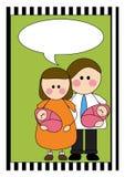 pary ilustraci bliźniacy royalty ilustracja