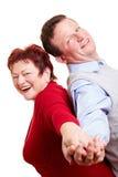 pary ja target2093_0_ szczęśliwy starszy Fotografia Royalty Free