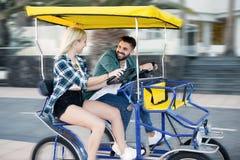 Pary jazdy post w furze Fotografia Royalty Free