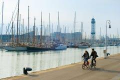 Pary jazdy rowery w Hiszpanii Obraz Royalty Free