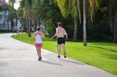 Pary jogging Fotografia Stock