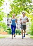Pary jogging Zdjęcie Stock