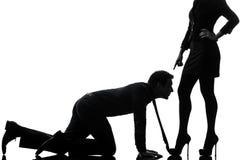Pary kobiety seductress spaja pojęcie sylwetkę Zdjęcia Royalty Free