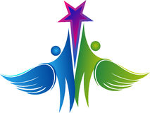 Pary komarnicy gwiazdy logo Obraz Stock