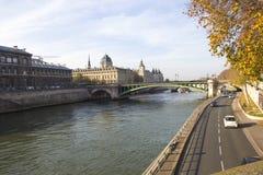 Paryż krajobraz Zdjęcia Royalty Free