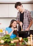 Pary kucharstwo W Domowej kuchni Obraz Stock