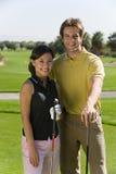 pary kursu golfa golfiści Zdjęcia Stock