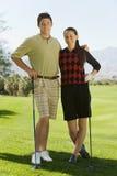 pary kursu golfa golfistów target2380_1_ Zdjęcie Royalty Free