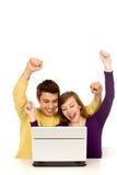 pary laptopu używać Fotografia Stock