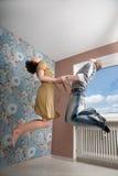 pary latania miłość Zdjęcia Royalty Free