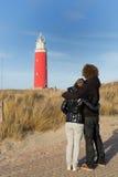pary latarni morskiej miłość blisko czerwieni Fotografia Stock