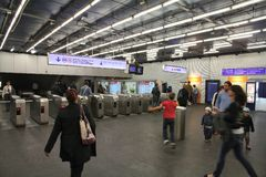 Paryski metro Zdjęcia Stock