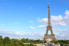 PARYŻ, LIPIEC 2017: Widok z lotu ptaka Paryż z wieżą eifla Zdjęcia Stock