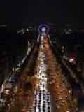 Paryż, listopad 26,2016: Iluminacja na czempion alei Zdjęcie Royalty Free