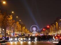 Paryż, listopad 26,2016: Iluminacja na czempion alei Obraz Stock