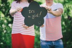 Pary małżeńskiej czekanie dla dziecka Zdjęcie Royalty Free