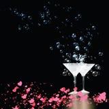 Pary Martini szkieł miłość Zdjęcia Stock