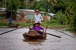 pary Mekong stary rzeczny wioślarstwo Fotografia Royalty Free