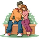 pary miłość Obrazy Royalty Free
