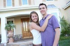 pary miłość frontowa domowa Fotografia Royalty Free