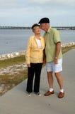 pary miłości senior zdjęcia stock