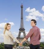 Paryż miasto kochankowie Obraz Royalty Free