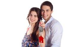 Pary mienia nowego domu klucze Zdjęcia Royalty Free
