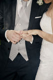 Pary mienie wręcza ślub Zdjęcia Royalty Free