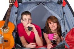 pary namiotu potomstwa zdjęcie stock