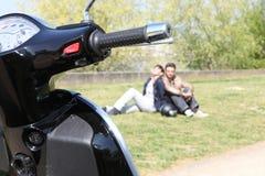pary następnie parkujący przepędzony Fotografia Royalty Free