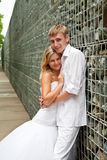 pary niedawno portreta ślub Zdjęcia Stock