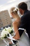 pary obejmowania nowożeńcy Obrazy Royalty Free