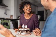 Pary odświętności kobiety urodziny zdjęcia stock