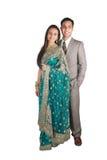 pary odzież indyjska tradycyjna Fotografia Royalty Free