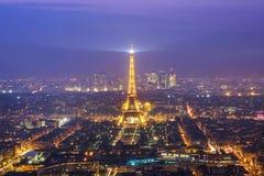Paryż, panoramiczny widok od Montparnasse Obrazy Royalty Free
