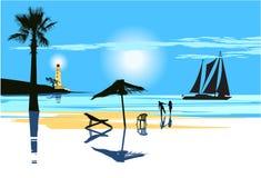 pary plażowa miłość Zdjęcie Stock